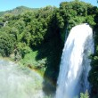 The Marmore Waterfall - Rainbow - Stock Photo