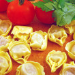 Stock Photo: Tortellini stuffed with meat sauce