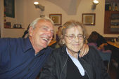 Elderly couple in joy — Stock Photo
