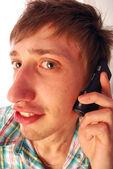 Facet na telefon — Zdjęcie stockowe