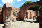 Overview of an ancient Roman domestic — ストック写真