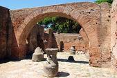 Roman ruins - Homes and shops — Stock Photo