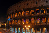 Rome and the Colosseum at night — Stock Photo