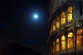 The Moon at the Coliseum — Stock Photo