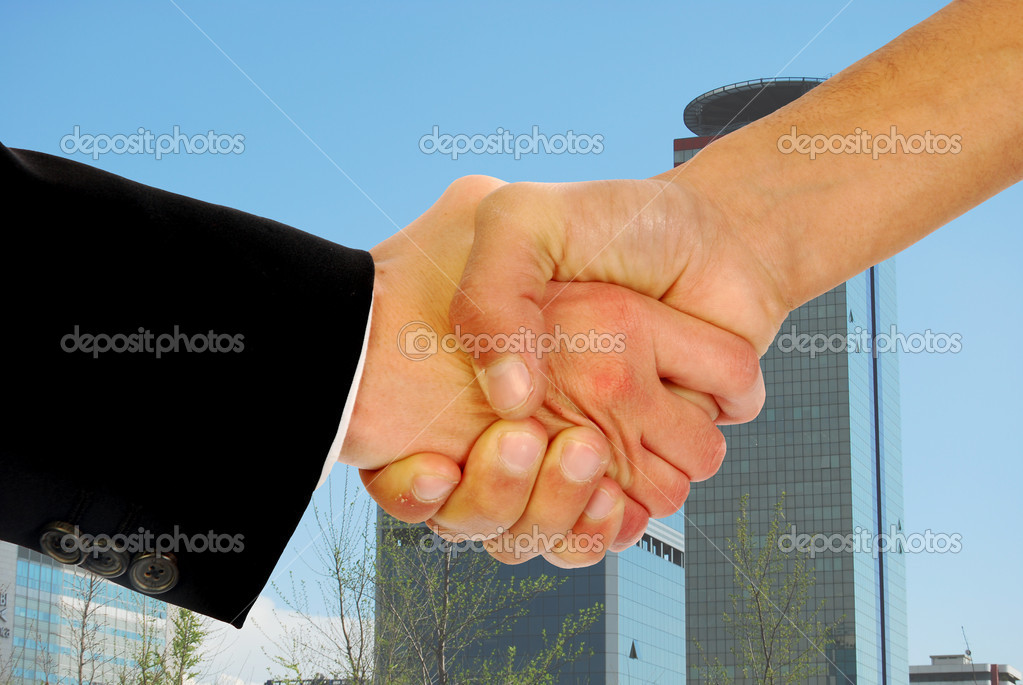 A warm greeting business — Stock Photo #6738469