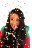 Cascade of confetti — Stock Photo