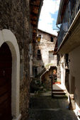 Historic Centre of Assergi - Abruzzo - Italy — Stock Photo