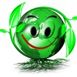 World tree smile - Stock Photo