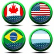 Icons flag America - Stockfoto