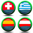 Icons flag Europe - Stockfoto