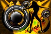 Muzyka na dyskoteke — Zdjęcie stockowe