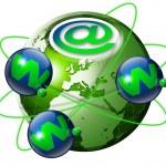 World wide web globe — Stock Photo