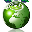 World wide web globe — Stockfoto