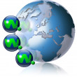 World wide web globe — Stockfoto #5867264