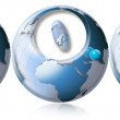 S.O.S. World globe — Stockfoto