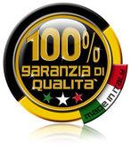 Garanzia ди qualità 100% сделано в италии — Стоковое фото