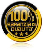 Garanzia di qualità al 100% — Stock Photo