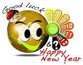 2012 happy new year clock — Stok fotoğraf
