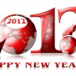 2012 why happy new year — Stock Photo