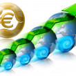 Stock Photo: Locomotive Euro Business & Financial world positive
