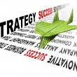 Paper airplane strategy success solutions — Stock Photo