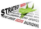 Soluções de sucesso de estratégia de avião de papel — Foto Stock