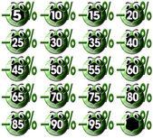 Per cento etichette di icona — Foto Stock