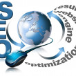 SEO - Search Engine Optimization Web - Lizenzfreies Foto
