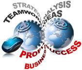 всемирный бизнес шестерни — Стоковое фото