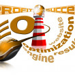 Lighthouse SEO - Search engine optimization web — стоковое фото #6002123