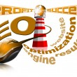 Lighthouse SEO - Search engine optimization web — Stock Photo