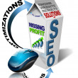 Milk SEO missing profit - Stockfoto