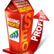 Carton SEO missing profit - Search engine optimization web — Foto Stock #6599579