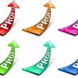 Stock Photo: Profit positive arrows