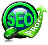 SEO profit green arrow — Stock fotografie