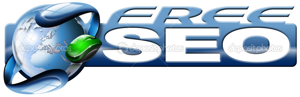Web button free seo - search engine optimization web and mouse — Stock Photo #6701639