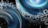 Achtergrond abstracte hemel nummers — Stockfoto