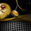 Gold and black word background — стоковое фото #6743483