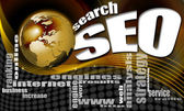Seo 搜索世界背景 — 图库照片
