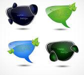 Set of eps10 speech bubble — Stock Vector
