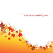 Autumnal leaf background — Stock Vector