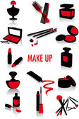 Make-up silhouettes — Stock Vector