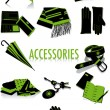 Accessories silhouettes - Stock Vector