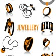 Jewellery silhouettes — Stock Vector #5819686