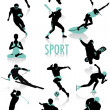 Sport silhouettes — Stock Vector #5819779
