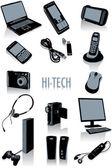 Hi-tech silhouettes — Stock Vector