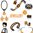 Royalty-Free Stock Vector Image: Jewellery silhouettes 2.0