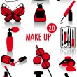Make-up silhouettes 2.0 - Stock Vector