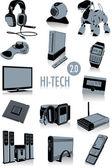 Hi-tech silhouettes 2.0 — Stock Vector
