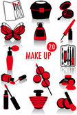 Make-up silhouettes 2.0 — Stock Vector